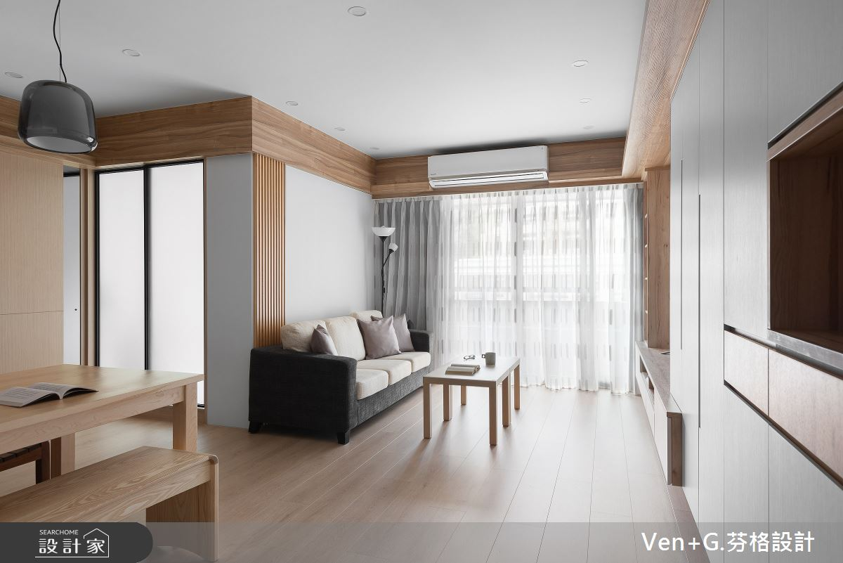 23坪老屋(16~30年)_簡約風客廳案例圖片_芬格空間設計事務所_芬格_26之4