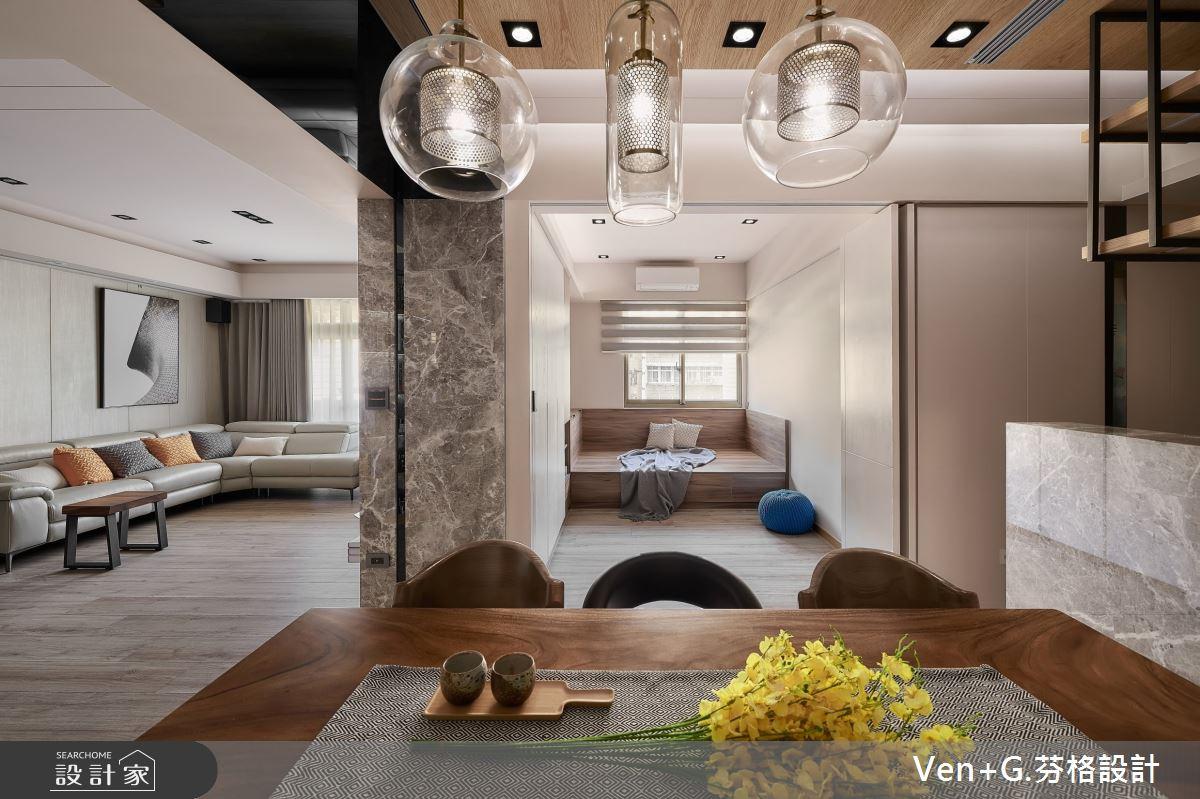 35坪中古屋(5~15年)_混搭風餐廳臥榻多功能室案例圖片_芬格空間設計事務所_芬格_27之9