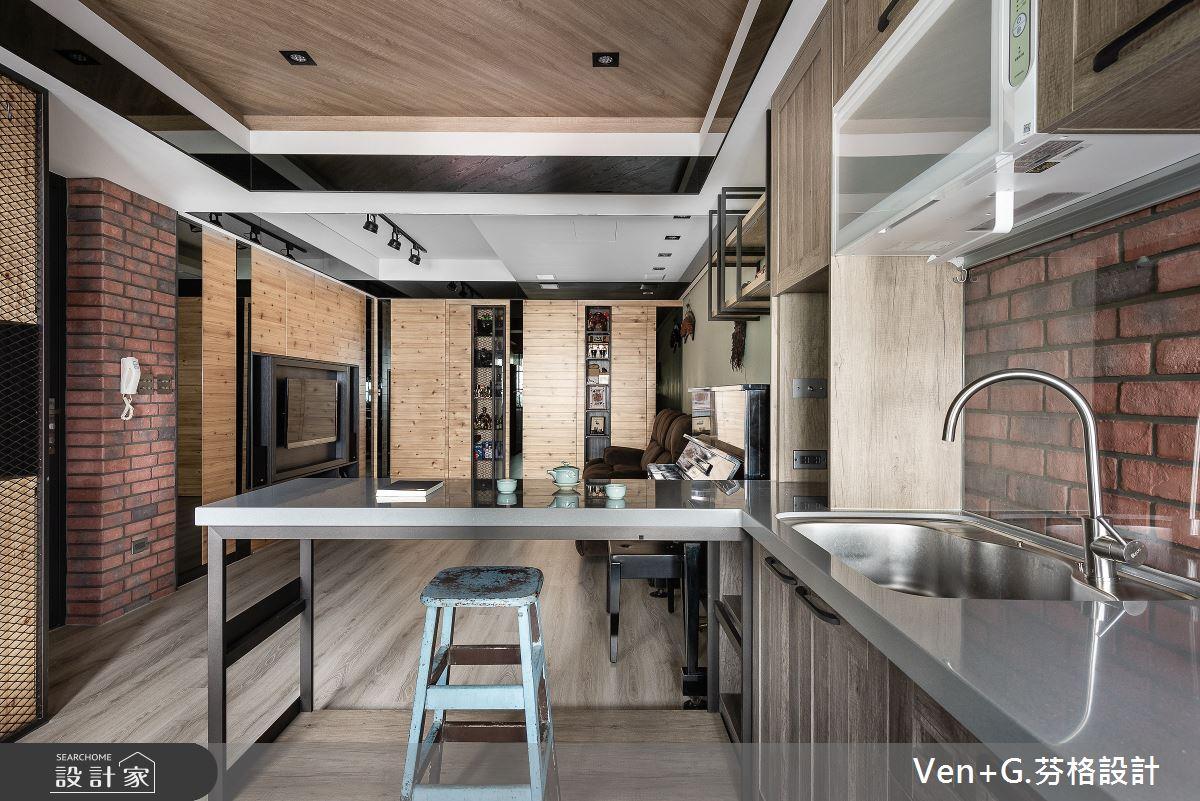 45坪老屋(16~30年)_工業風廚房吧檯案例圖片_芬格空間設計事務所_芬格_31之7