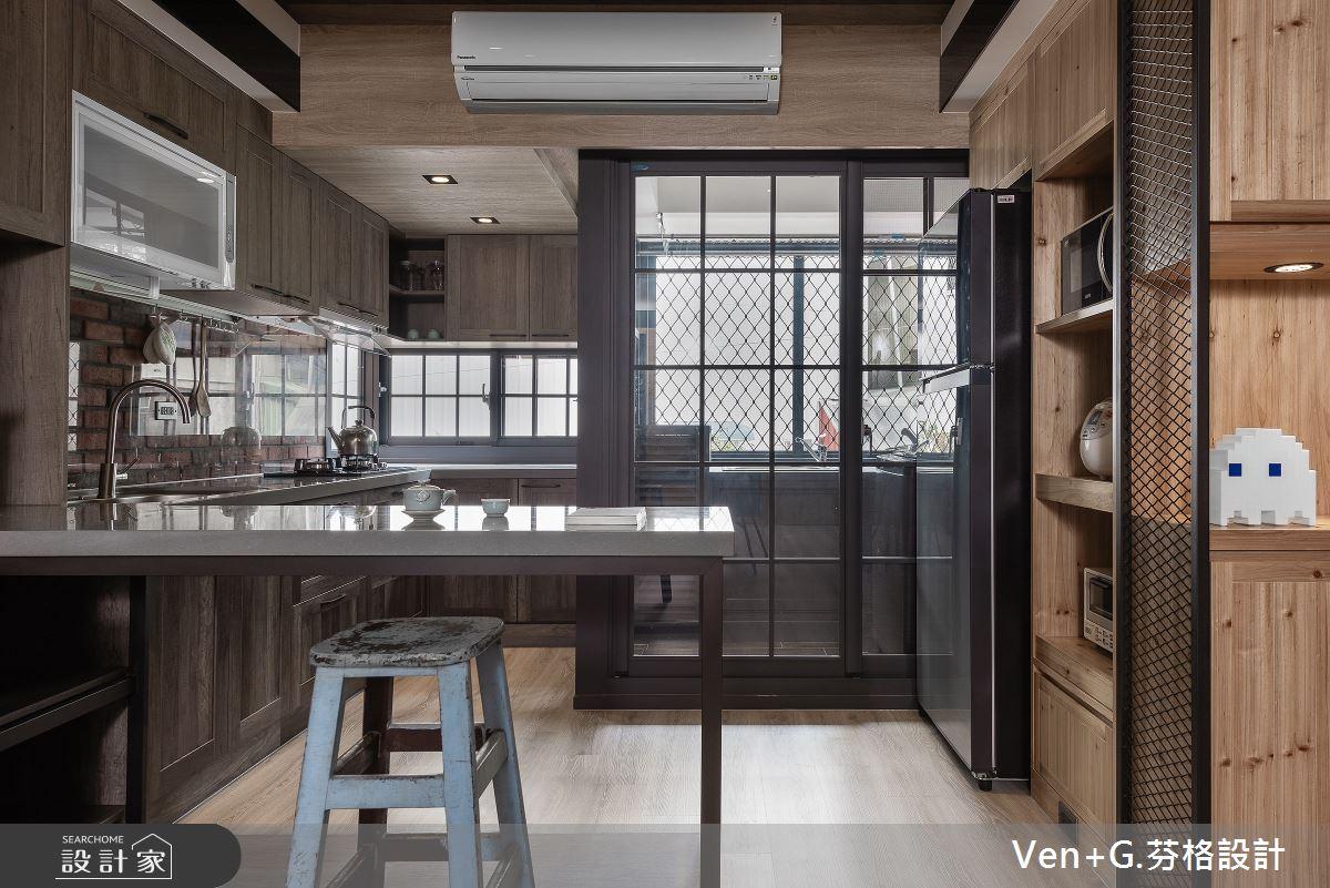 45坪老屋(16~30年)_工業風廚房吧檯案例圖片_芬格空間設計事務所_芬格_31之8