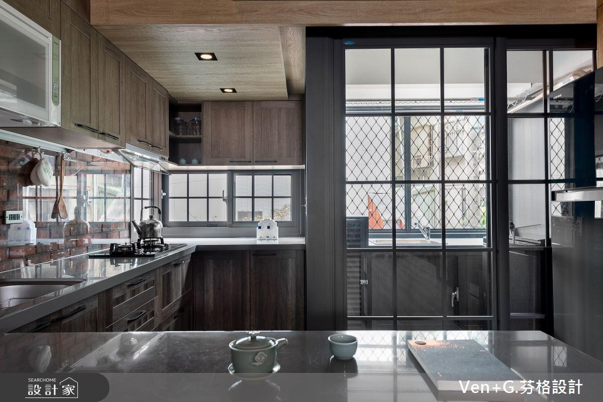 45坪老屋(16~30年)_工業風廚房吧檯案例圖片_芬格空間設計事務所_芬格_31之9