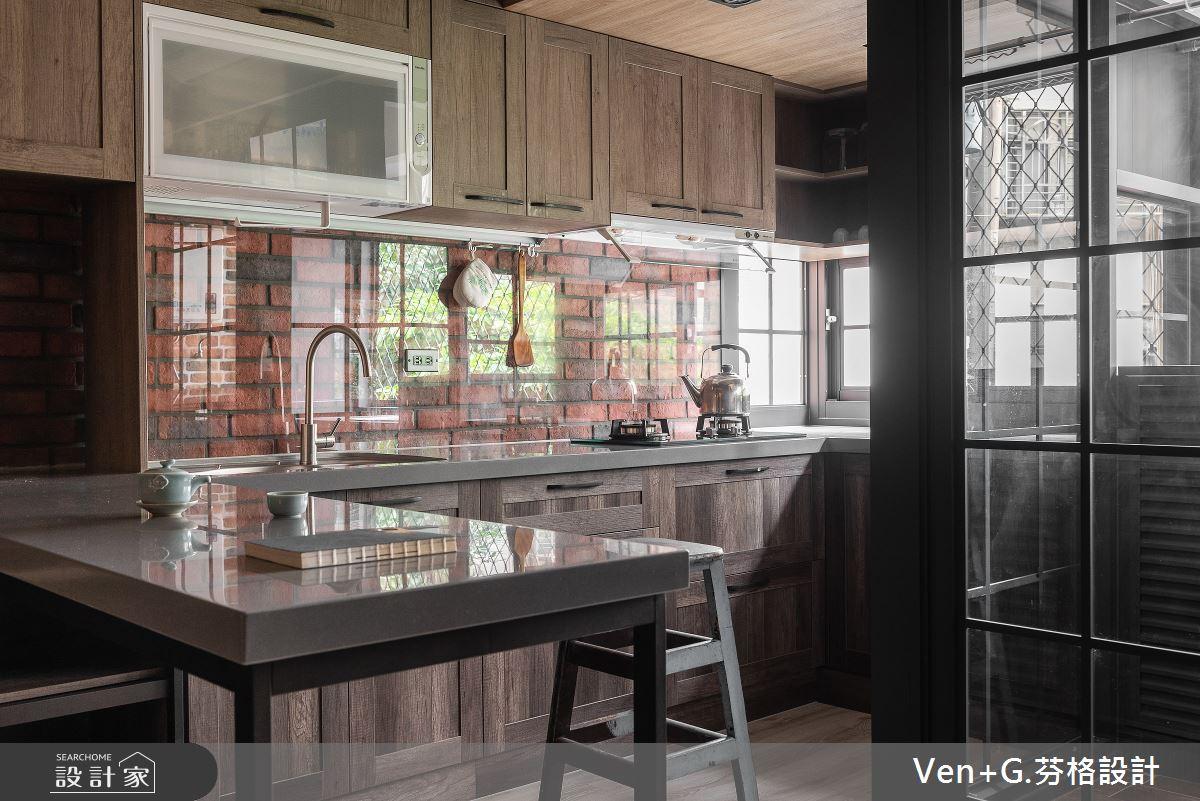 45坪老屋(16~30年)_工業風廚房吧檯案例圖片_芬格空間設計事務所_芬格_31之10