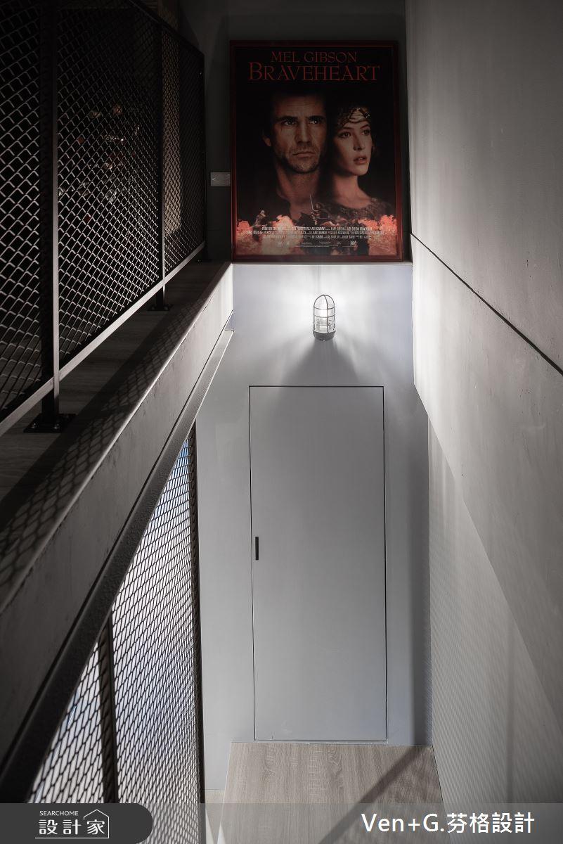 45坪老屋(16~30年)_工業風樓梯案例圖片_芬格空間設計事務所_芬格_31之15