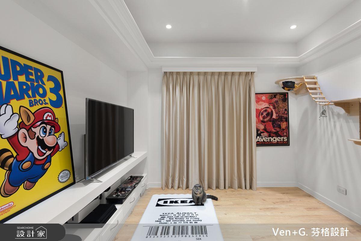 40坪老屋(16~30年)_美式風多功能室案例圖片_芬格空間設計事務所_芬格_33之18