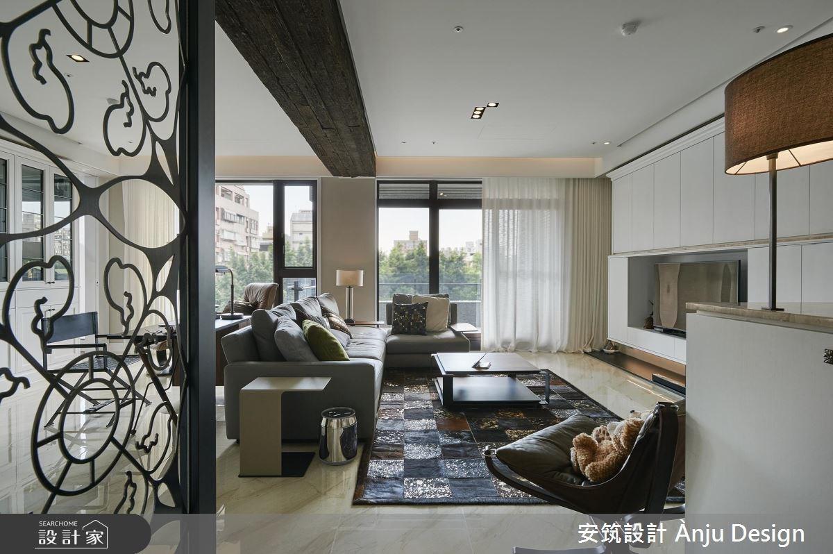 42坪新成屋(5年以下)_美式風客廳案例圖片_安筑設計 Ànju Design_安筑_05之2
