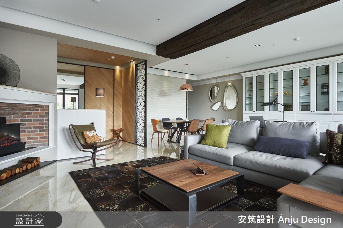 42坪新成屋(5年以下)_美式風客廳案例圖片_安筑設計 Ànju Design_安筑_05之3