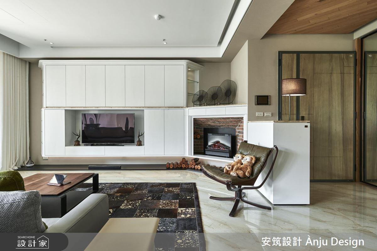 42坪新成屋(5年以下)_美式風客廳案例圖片_安筑設計 Ànju Design_安筑_05之6