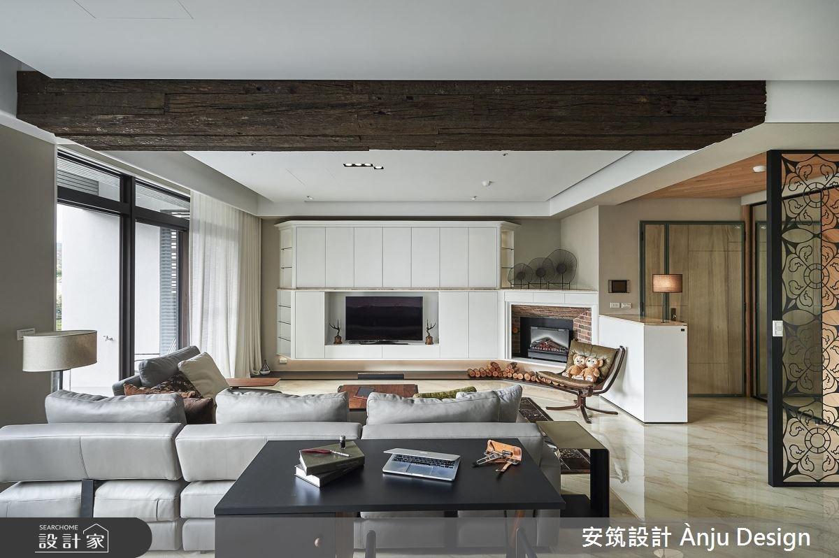 42坪新成屋(5年以下)_美式風客廳案例圖片_安筑設計 Ànju Design_安筑_05之7