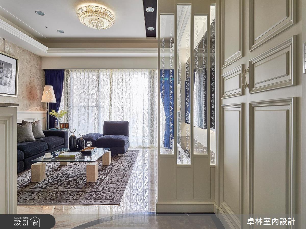 33坪新成屋(5年以下)_新古典玄關案例圖片_卓林室內設計有限公司_卓林_01之1
