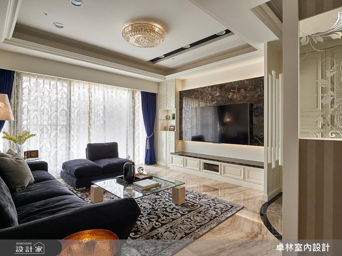 33坪新成屋(5年以下)_新古典客廳案例圖片_卓林室內設計有限公司_卓林_01之2