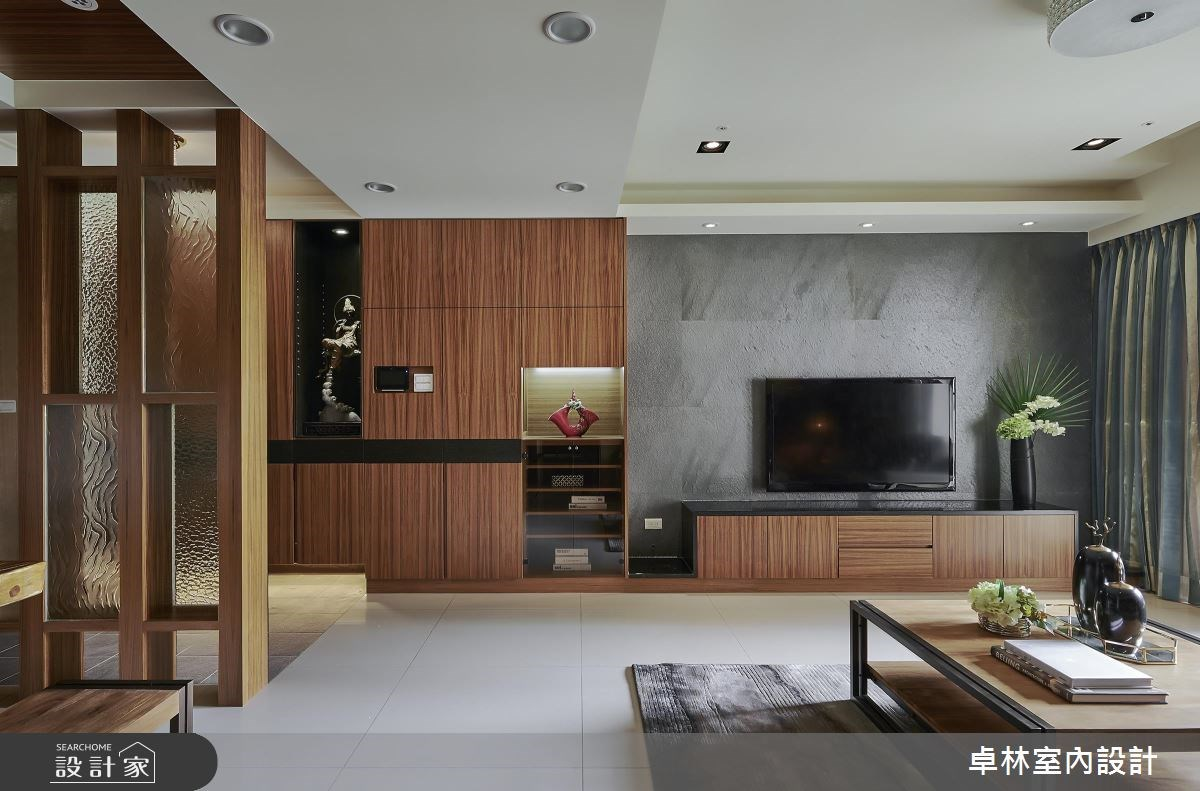 42坪新成屋(5年以下)_混搭風客廳案例圖片_卓林室內設計有限公司_卓林_02之2