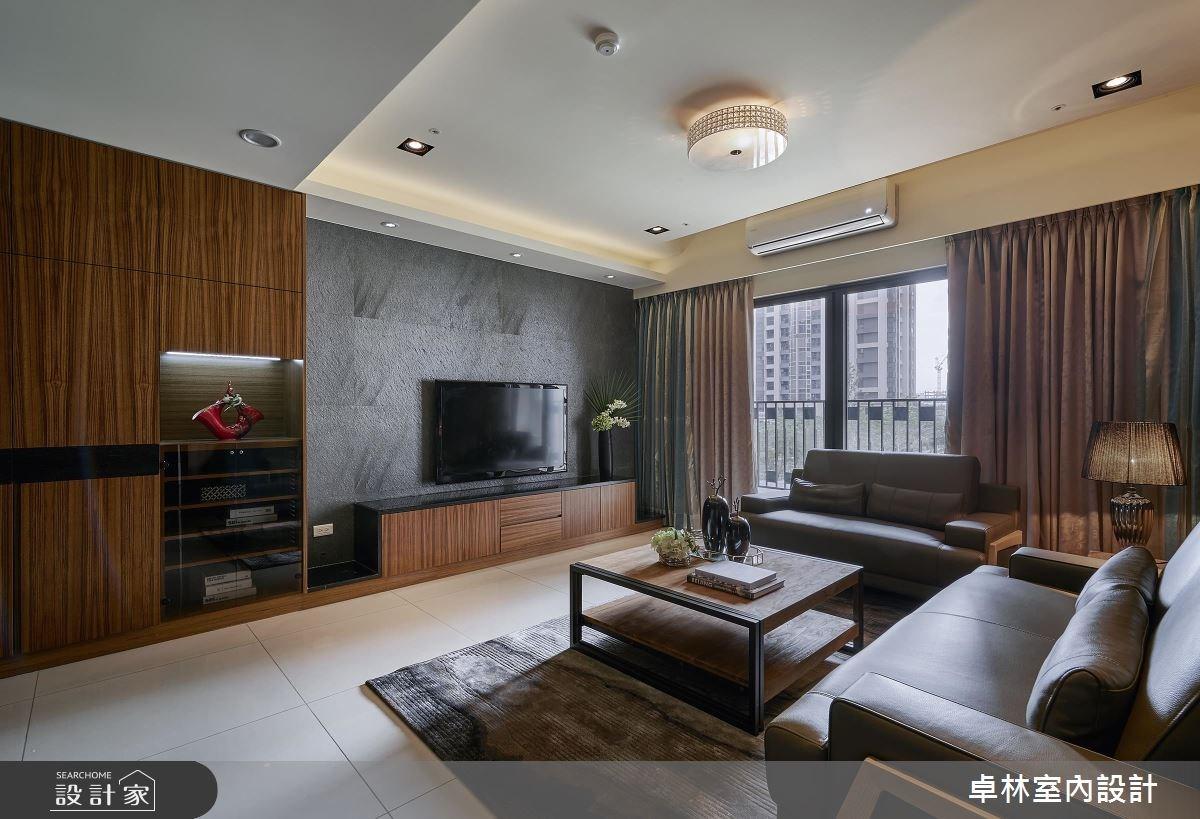 42坪新成屋(5年以下)_混搭風客廳案例圖片_卓林室內設計有限公司_卓林_02之3
