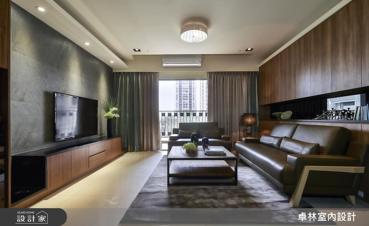 42坪新成屋(5年以下)_混搭風客廳案例圖片_卓林室內設計有限公司_卓林_02之4