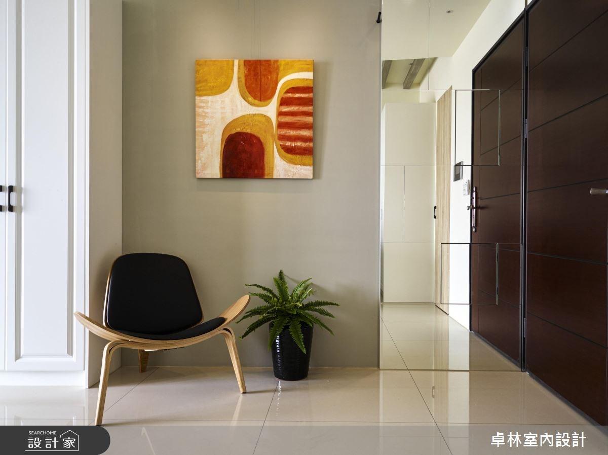 28坪新成屋(5年以下)_美式風玄關案例圖片_卓林室內設計有限公司_卓林_04之1