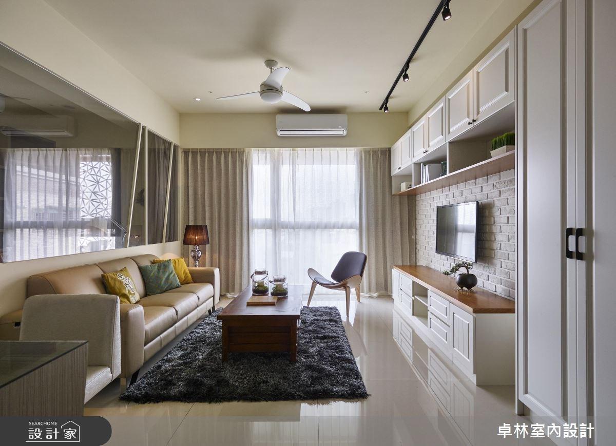 28坪新成屋(5年以下)_美式風客廳案例圖片_卓林室內設計有限公司_卓林_04之4
