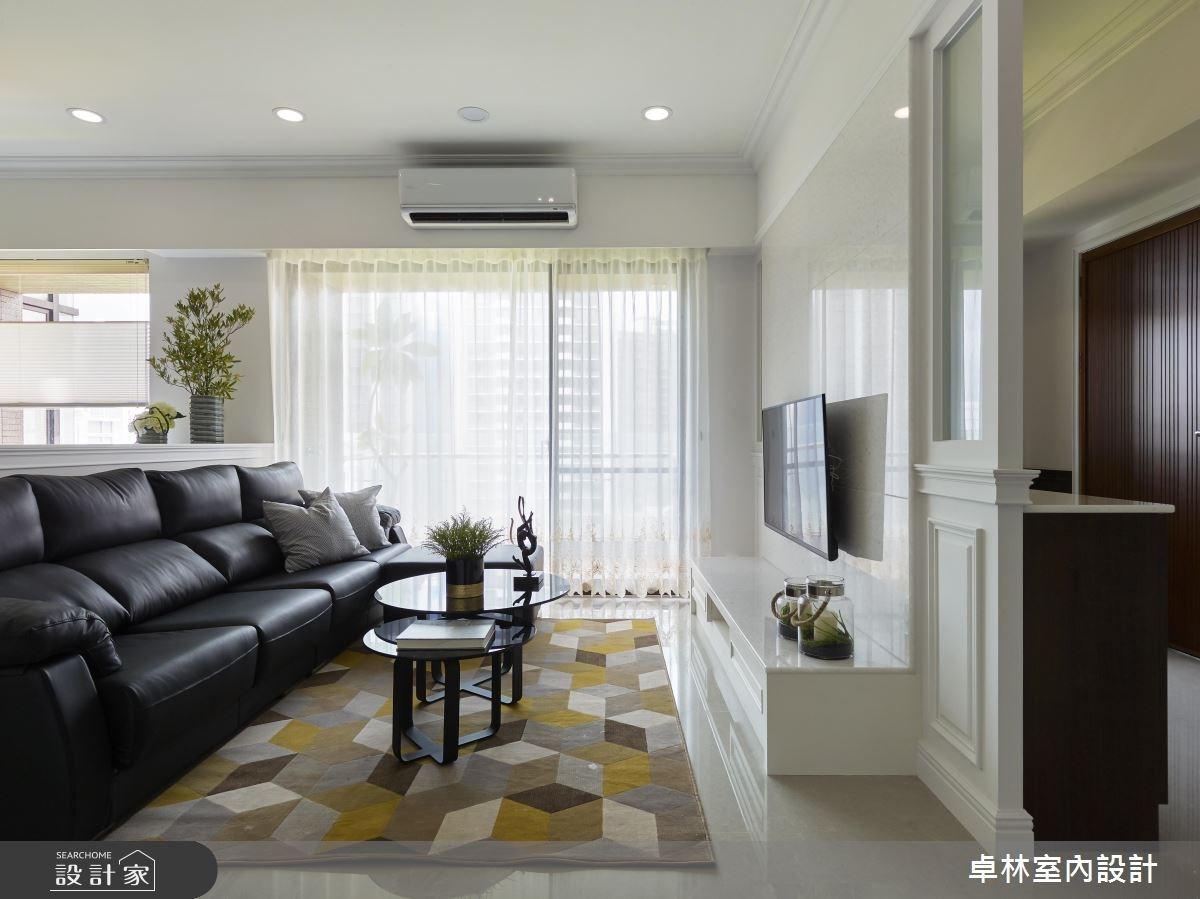 42坪新成屋(5年以下)_混搭風客廳案例圖片_卓林室內設計有限公司_卓林_05之2