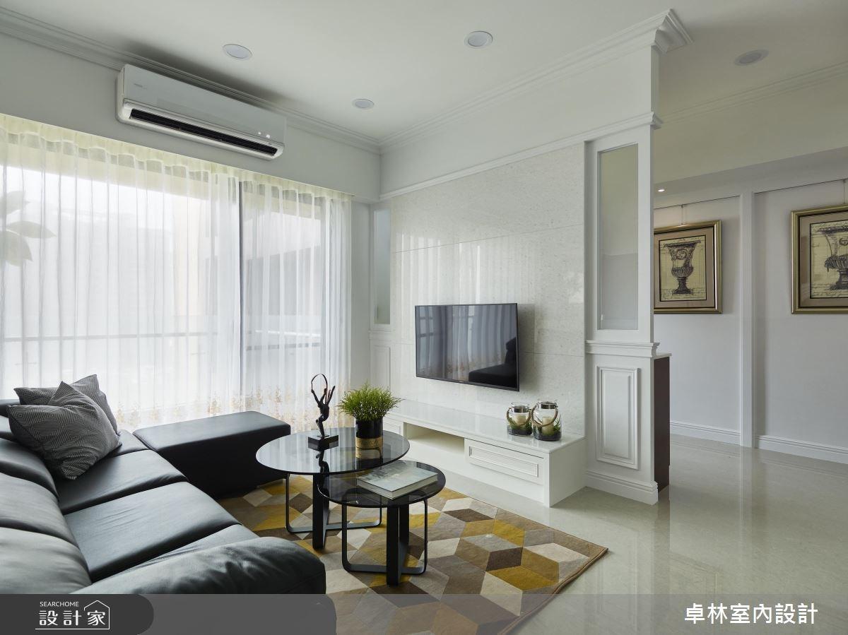42坪新成屋(5年以下)_混搭風客廳案例圖片_卓林室內設計有限公司_卓林_05之4