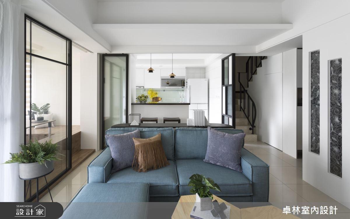 26坪新成屋(5年以下)_北歐風客廳案例圖片_卓林室內設計有限公司_卓林_07之2