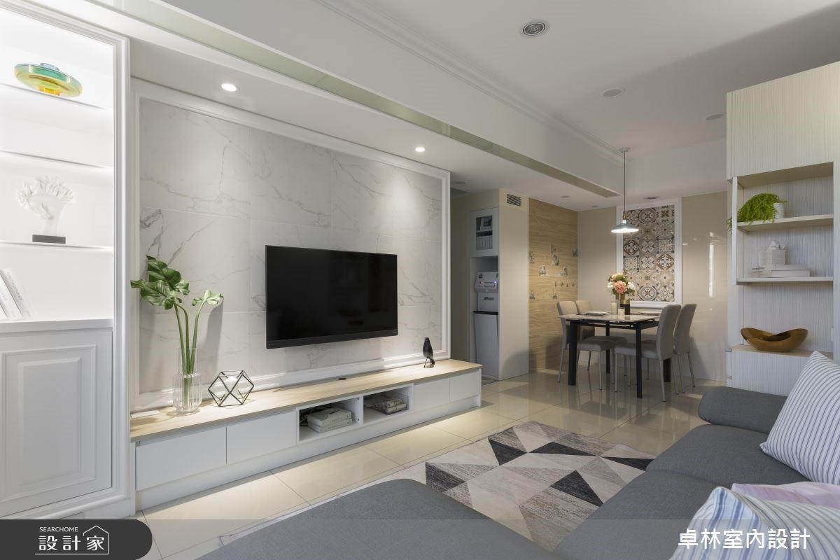 21坪新成屋(5年以下)_混搭風客廳案例圖片_卓林室內設計有限公司_卓林_08之3
