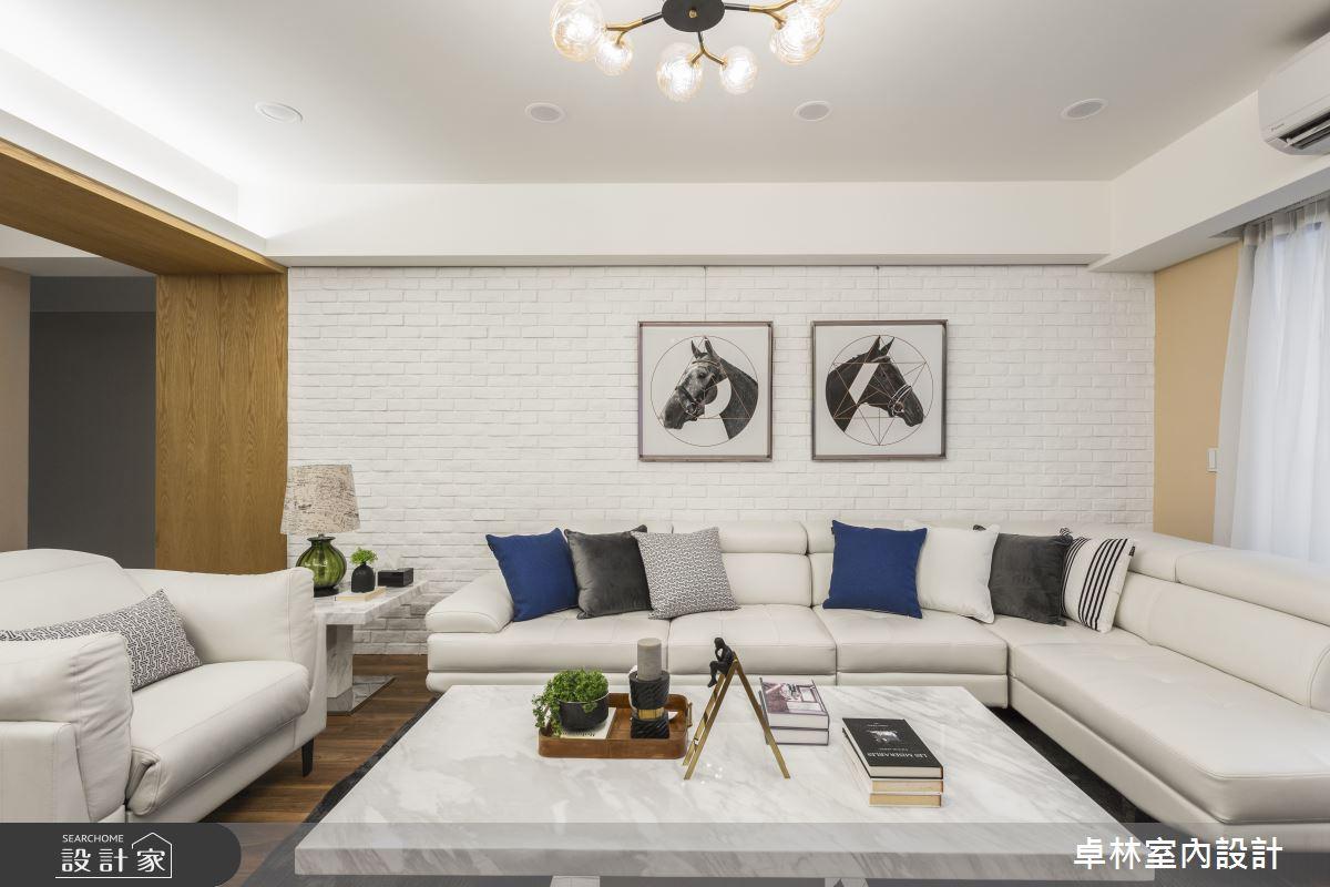 45坪老屋(16~30年)_混搭風客廳案例圖片_卓林室內設計有限公司_卓林_09之2