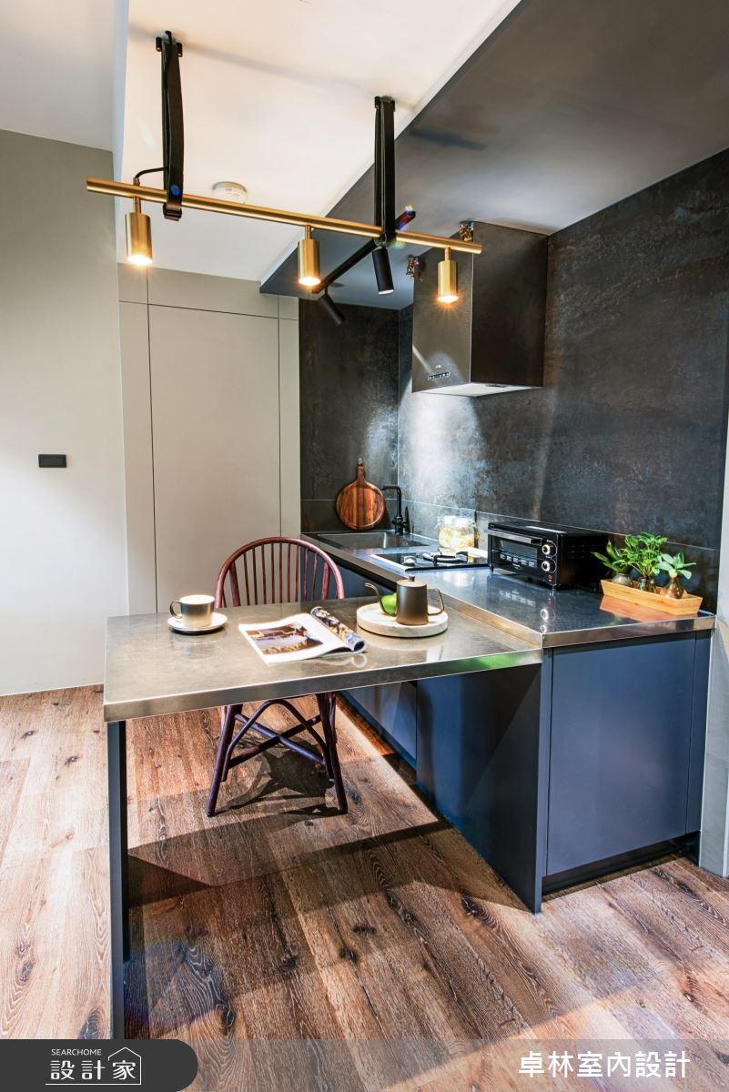 16坪老屋(41~50年)_工業風餐廳廚房案例圖片_卓林室內設計有限公司_卓林_11之4