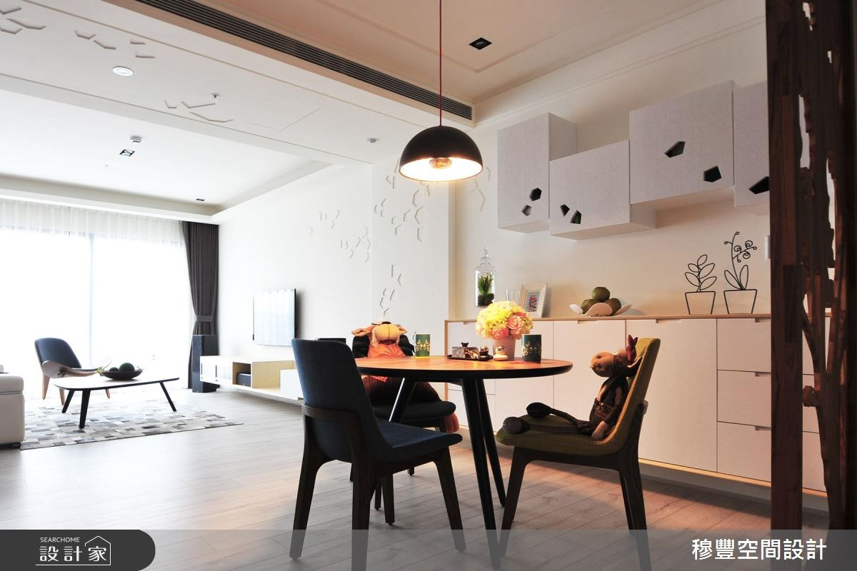 36坪新成屋(5年以下)_北歐風餐廳案例圖片_穆豐空間設計有限公司_穆豐_漫漫.北歐風之1