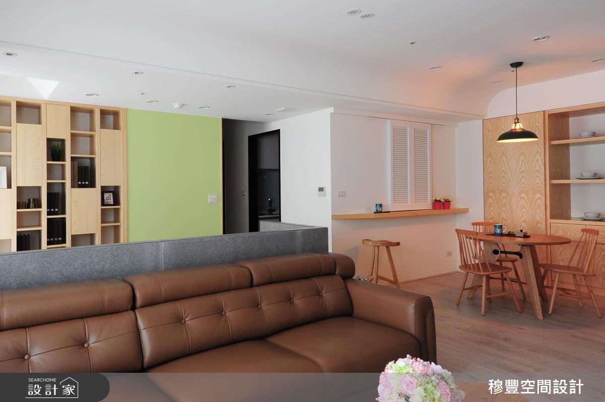 27坪新成屋(5年以下)_混搭風客廳案例圖片_穆豐空間設計有限公司_穆豐_明日.夢想家之5