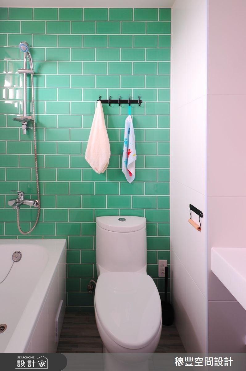 33坪老屋(16~30年)_北歐風浴室案例圖片_穆豐空間設計有限公司_穆豐_山城.甜蜜城堡之16