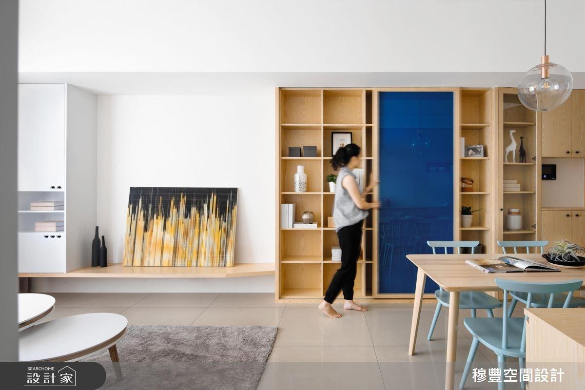 27坪新成屋(5年以下)_北歐風客廳案例圖片_穆豐空間設計有限公司_穆豐_煦煦.山影之3
