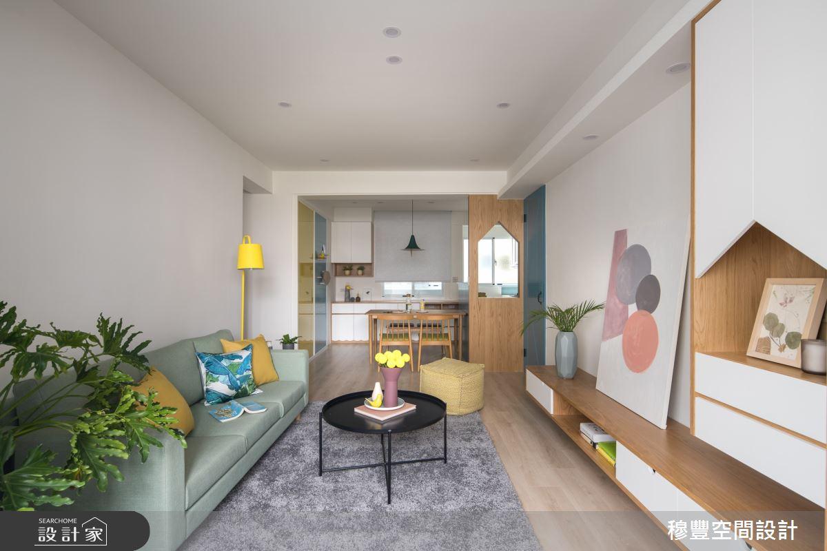 27坪老屋(31~40年)_北歐風客廳案例圖片_穆豐空間設計有限公司_穆豐_日安,老所在之4