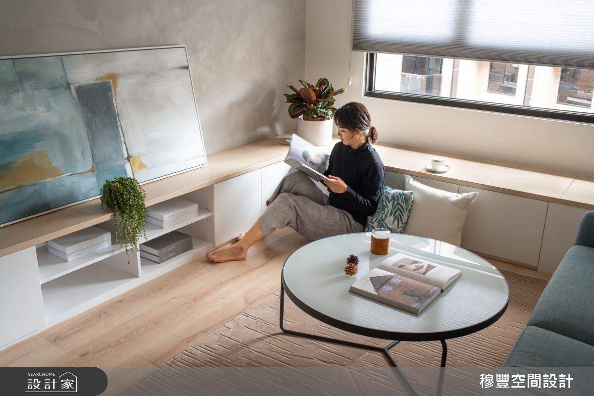 23坪新成屋(5年以下)_北歐風客廳臥榻案例圖片_穆豐空間設計有限公司_穆豐_小時光之7