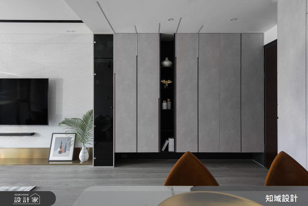 30坪新成屋(5年以下)_現代風客廳案例圖片_知域設計 X 一己空間制作_知域_光影迴廊之2