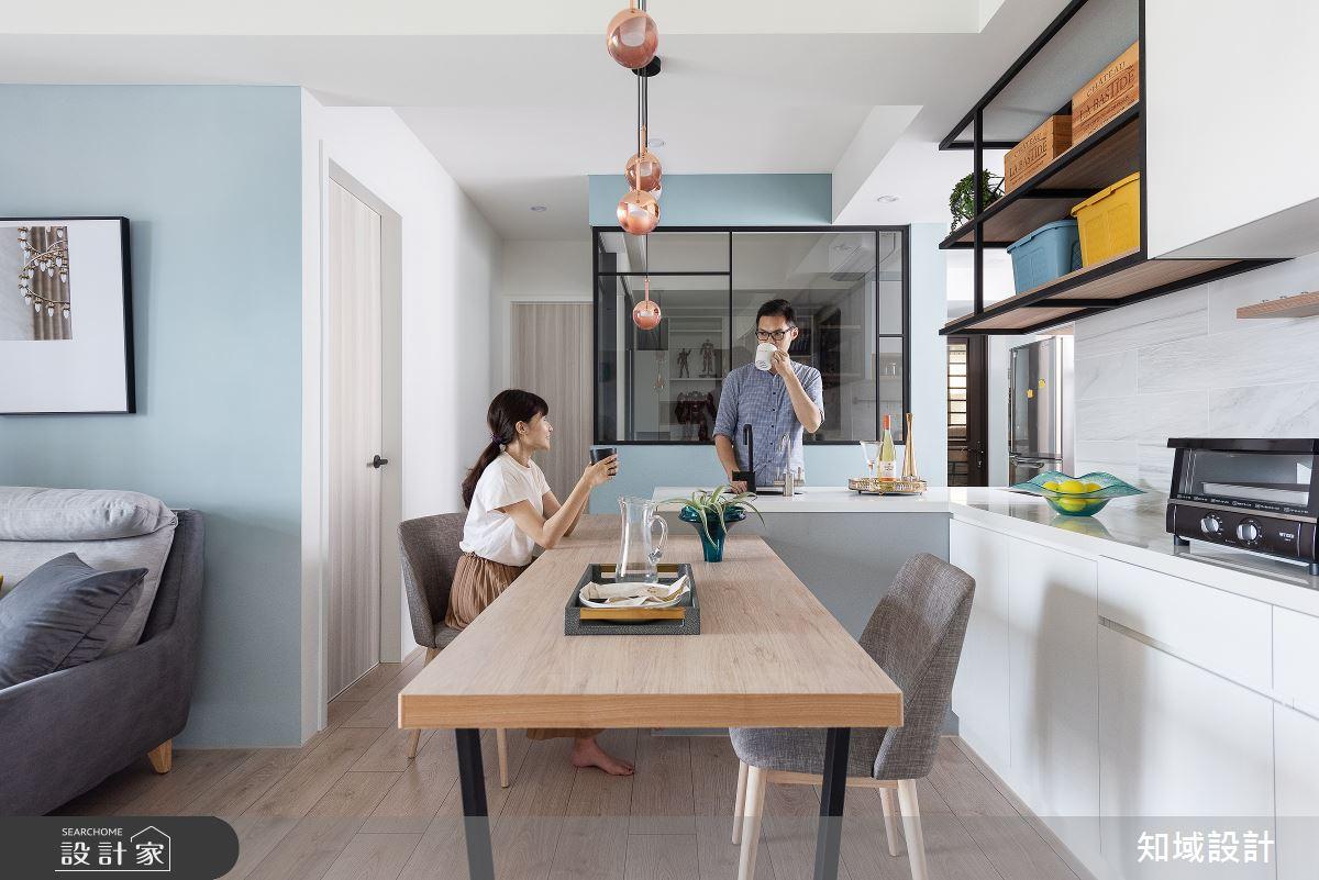 28坪新成屋(5年以下)_混搭風餐廳案例圖片_知域設計 X 一己空間制作_知域_馨之所向之7