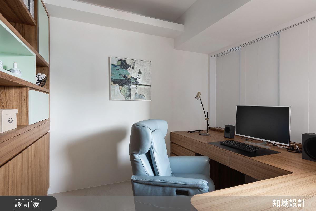46坪中古屋(5~15年)_現代風書房案例圖片_知域設計 X 一己空間制作_知域_琢玉之3
