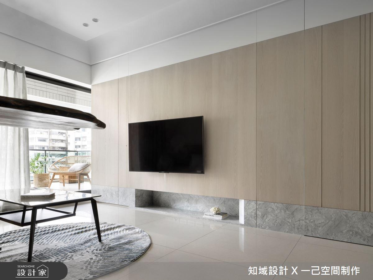 30坪新成屋(5年以下)_現代風客廳案例圖片_知域設計 X 一己空間制作_知域_Midsummer之2