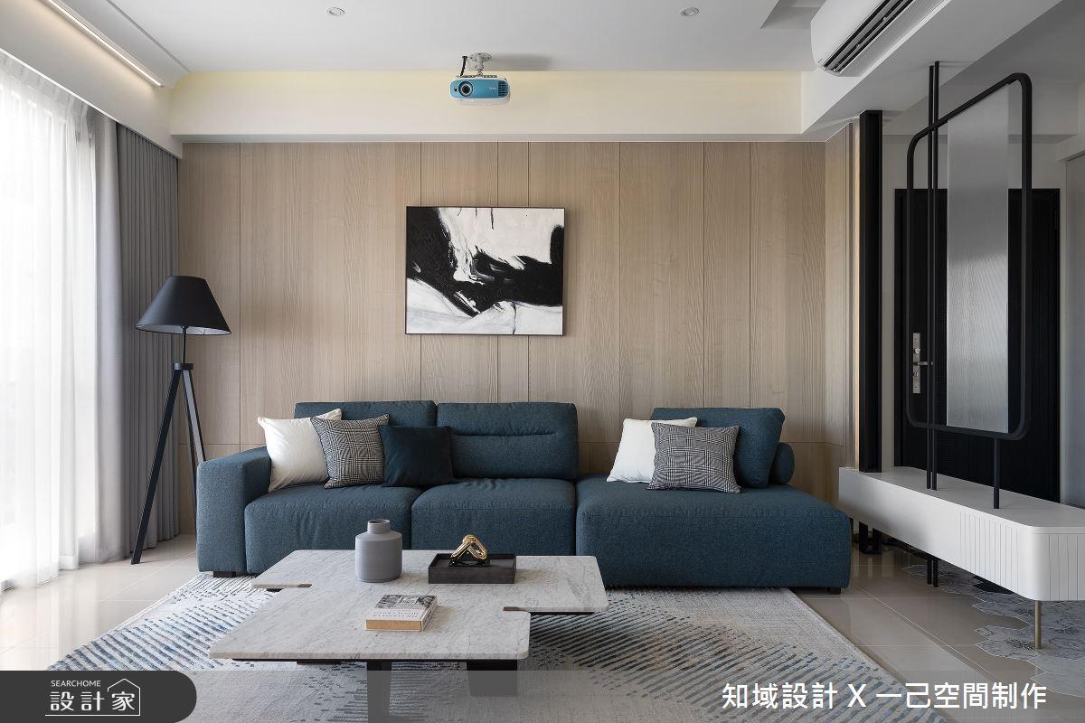 25坪新成屋(5年以下)_混搭風客廳案例圖片_知域設計 X 一己空間制作_知域_無垠之4