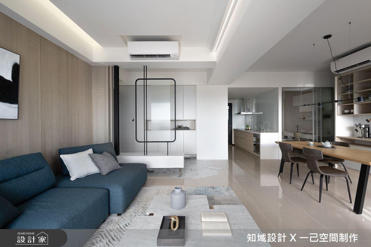 25坪新成屋(5年以下)_混搭風客廳案例圖片_知域設計 X 一己空間制作_知域_無垠之5