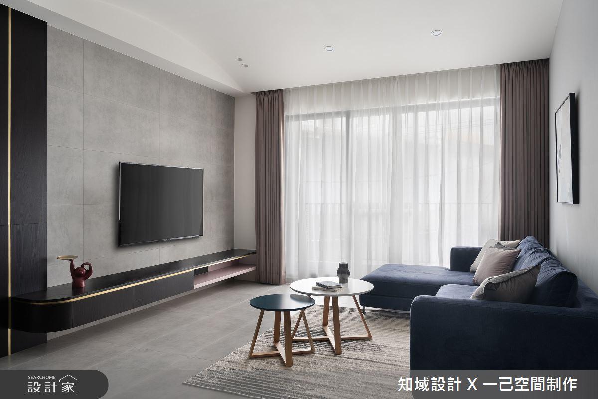 30坪新成屋(5年以下)_北歐風客廳案例圖片_知域設計 X 一己空間制作_知域_Lady Grey之2