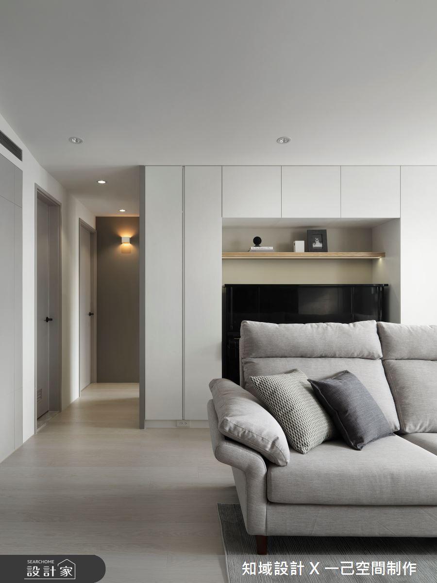 25坪新成屋(5年以下)_北歐風客廳案例圖片_知域設計 X 一己空間制作_知域_曦之4