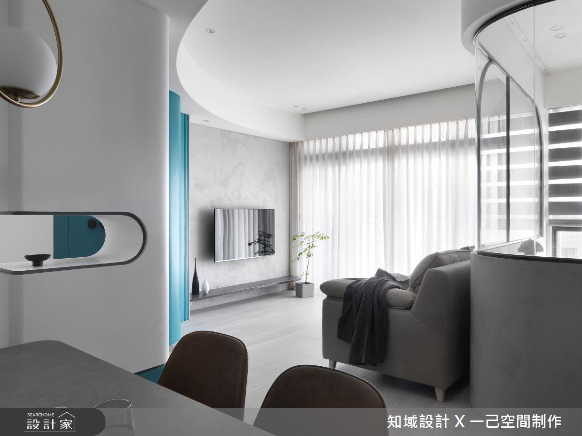 17坪新成屋(5年以下)_北歐風客廳案例圖片_知域設計 X 一己空間制作_知域_U museum之4