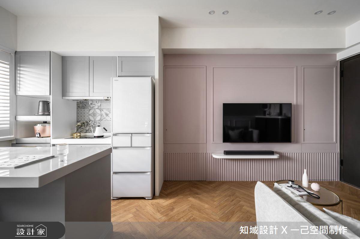 15坪新成屋(5年以下)_美式風客廳案例圖片_知域設計 X 一己空間制作_知域_覓.蜜之3