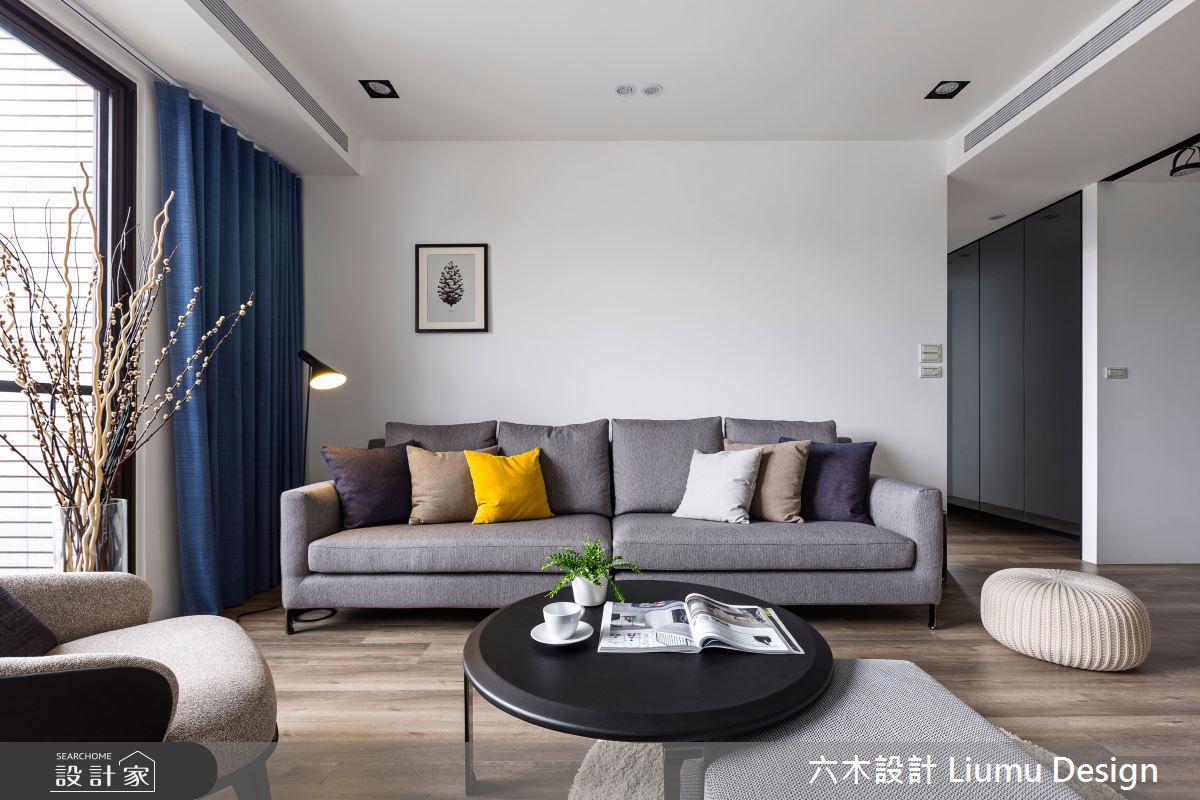 22坪新成屋(5年以下)_北歐風客廳案例圖片_六木設計 Liumu Design_六木_01之10