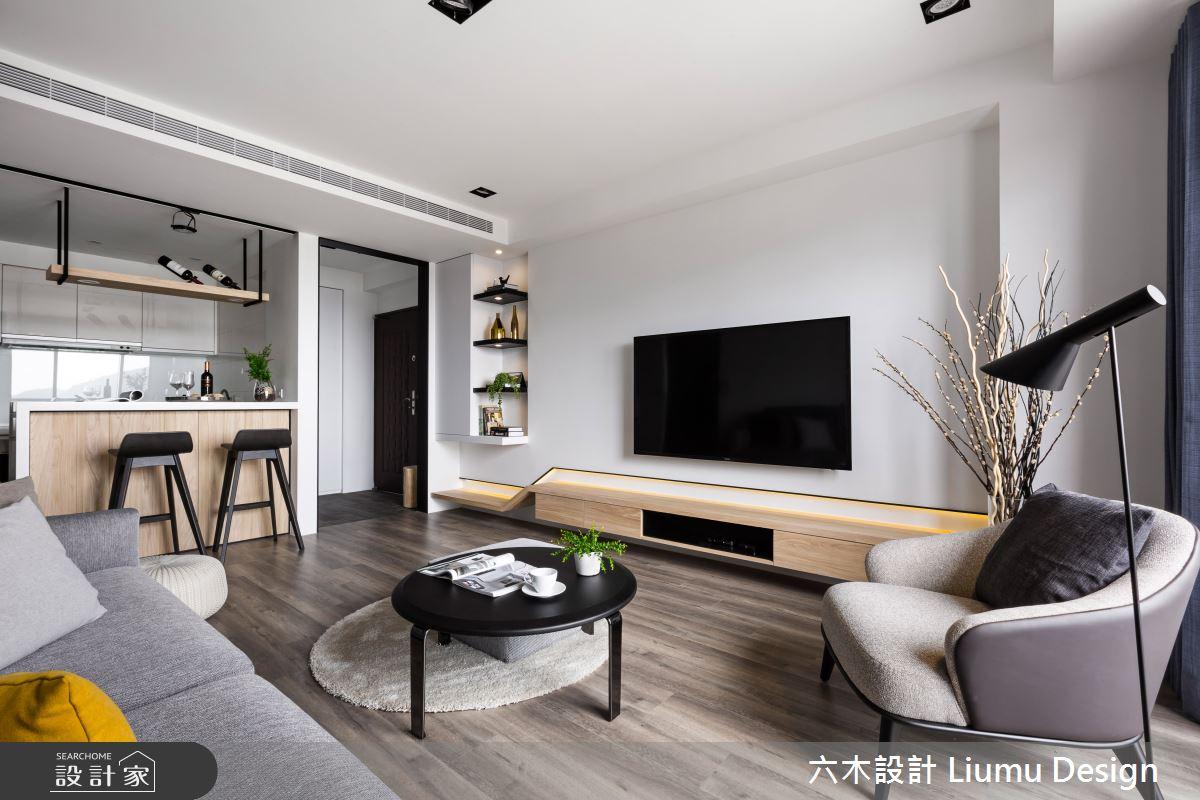 22坪新成屋(5年以下)_北歐風客廳吧檯案例圖片_六木設計 Liumu Design_六木_01之12
