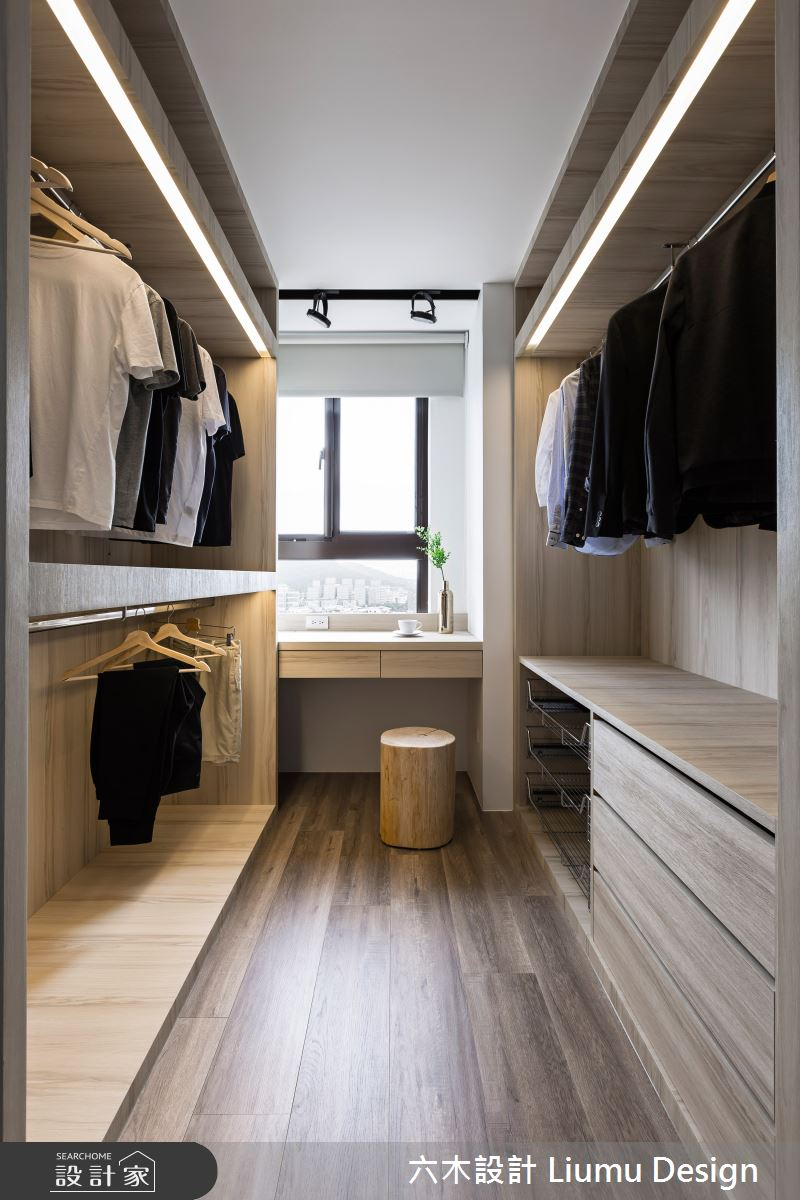 22坪新成屋(5年以下)_北歐風更衣間案例圖片_六木設計 Liumu Design_六木_01之22