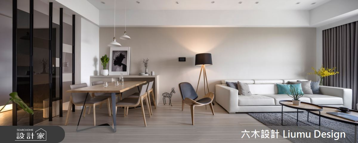 32坪新成屋(5年以下)_北歐風客廳餐廳案例圖片_六木設計 Liumu Design_六木_02之12