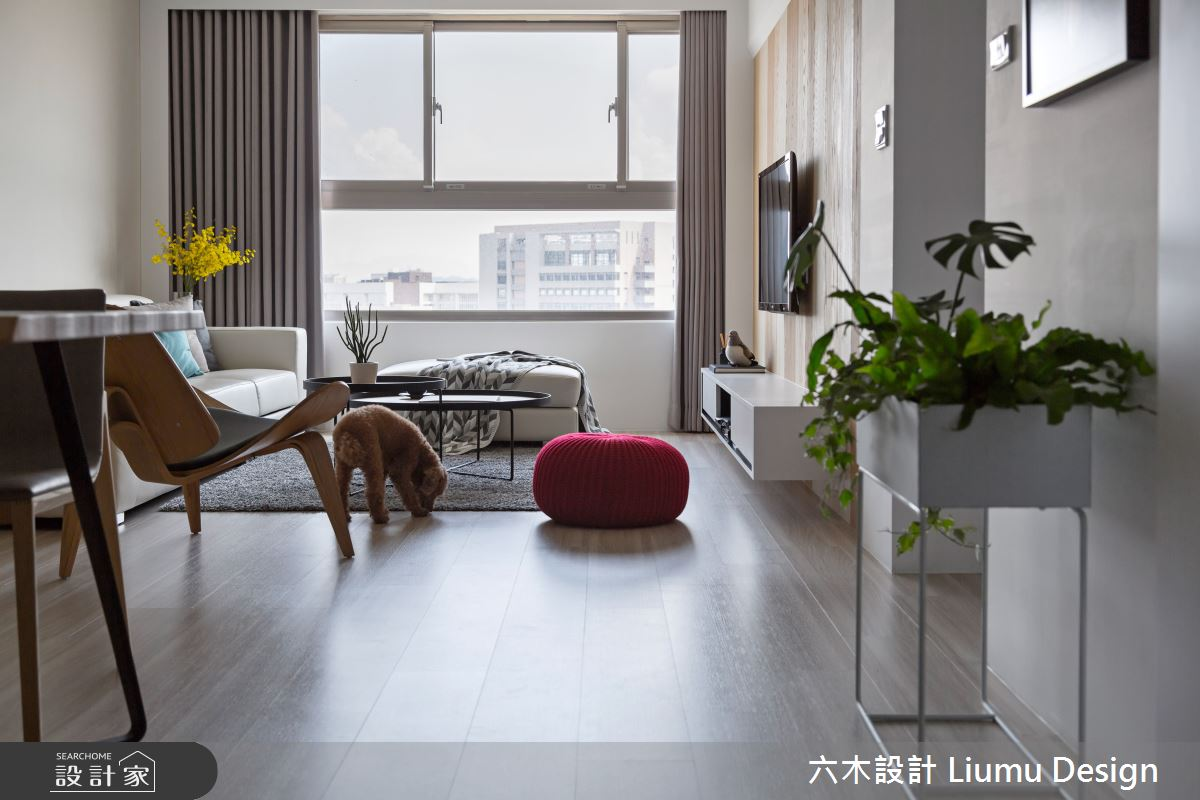 32坪新成屋(5年以下)_北歐風客廳案例圖片_六木設計 Liumu Design_六木_02之7