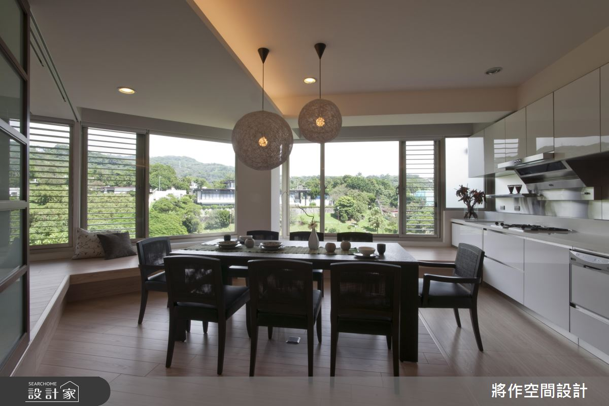 把日式緣廊搬進家裡 坐擁 270 度綠景的扇形屋大解放!