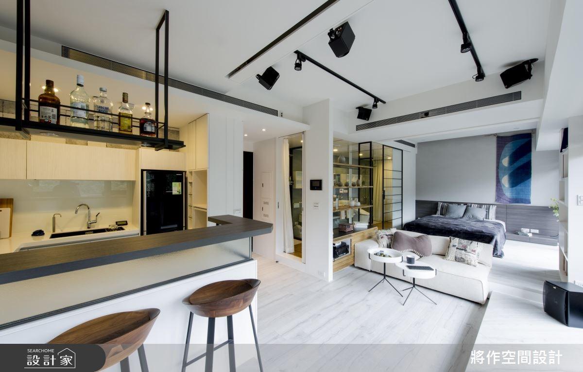13坪新成屋(5年以下)_休閒風客廳吧檯案例圖片_將作空間設計工作室_將作_11之2