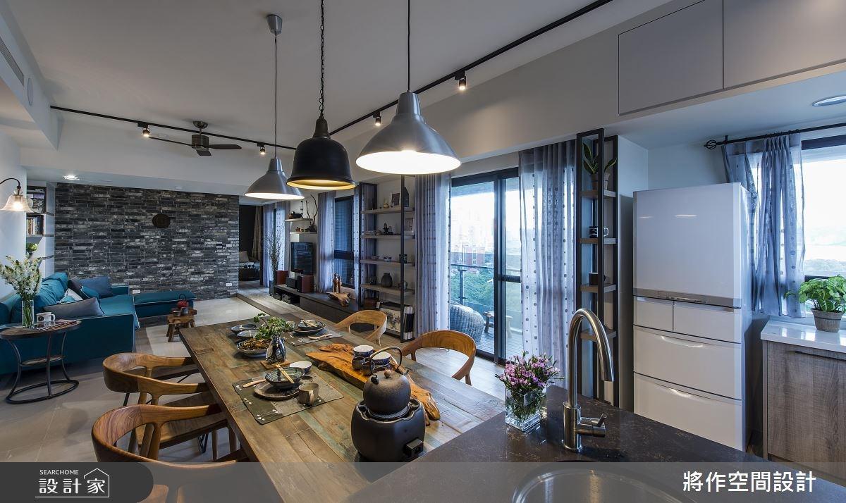 27坪新成屋(5年以下)_混搭風客廳餐廳案例圖片_將作空間設計工作室_將作_15之14