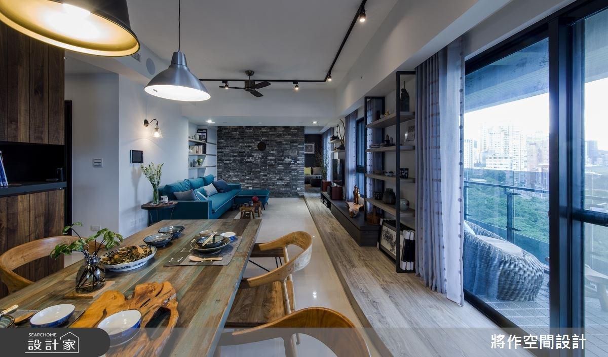 27坪新成屋(5年以下)_混搭風客廳餐廳案例圖片_將作空間設計工作室_將作_15之15